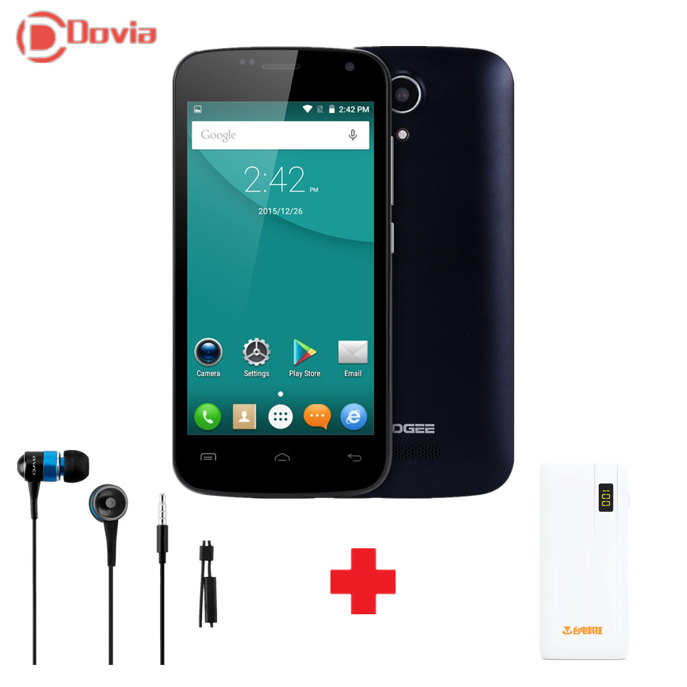 Doogee X3 Smartphone 4.5 Inch Android 5.1 MTK 6580 Quad Core QHD 854x480 IPS Mobile Cell Phone 1GB RAM 8GB ROM 5MP WIFI(China (Mainland))