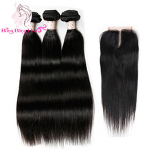 Brazilian Virgin Hair Straight With Closure 8a Grade Virgin Unprocessed Human Hair With Closure Cheap Bundles With Closures Lot(China (Mainland))