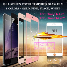 for iPhone 6s i6 i6s 4.7″ 3D Full Screen Cover Explosion proof Tempered Glass film Screen Protector New 9H Front High quality
