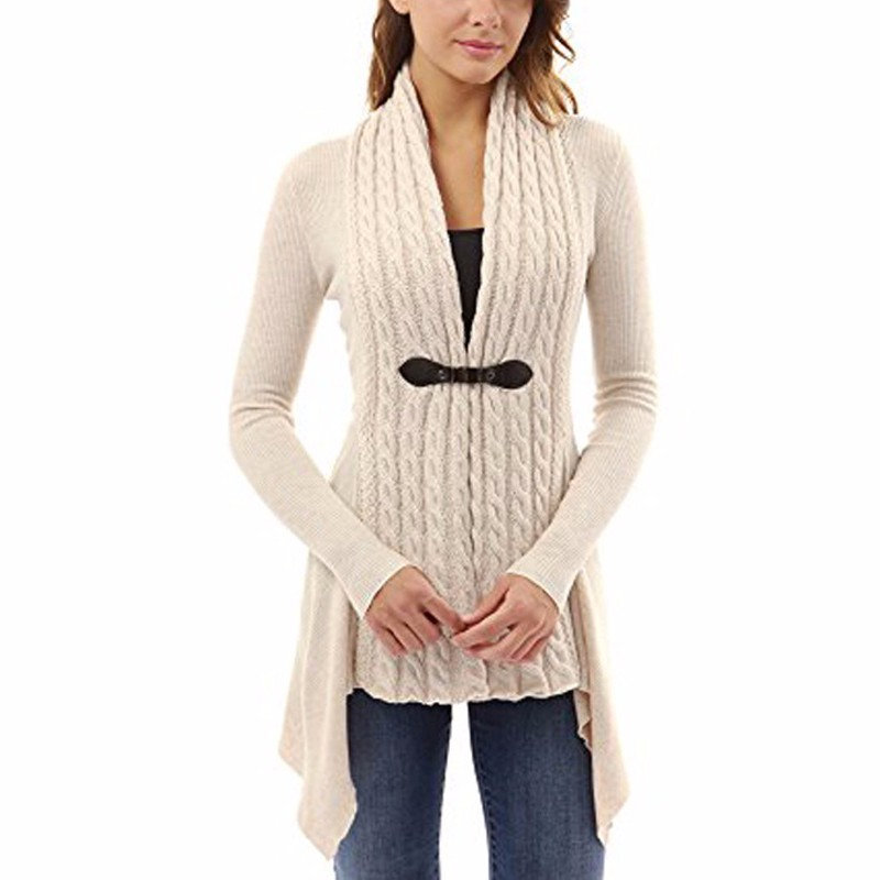 69982b8d9a 2019 Wholesale Womens Ladies Fashion Knit Cardigans Long Sleeve ...