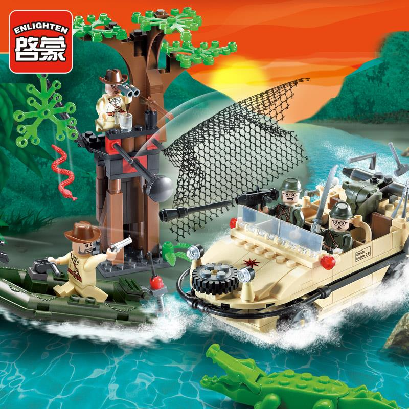 Enlighten Military Series Amphibious vehicle Building Blocks set Bricks Construction Toys Children Gift 813 Legoeddis