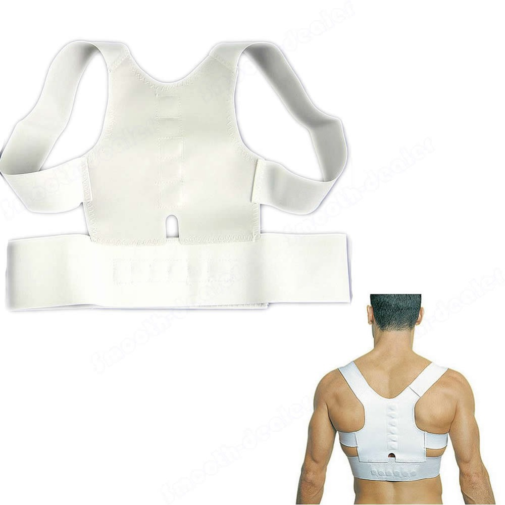 New Best Deal Magnetic Posture Support Back Corrector Pain Feel Young Brace Shoulder Belt(China (Mainland))