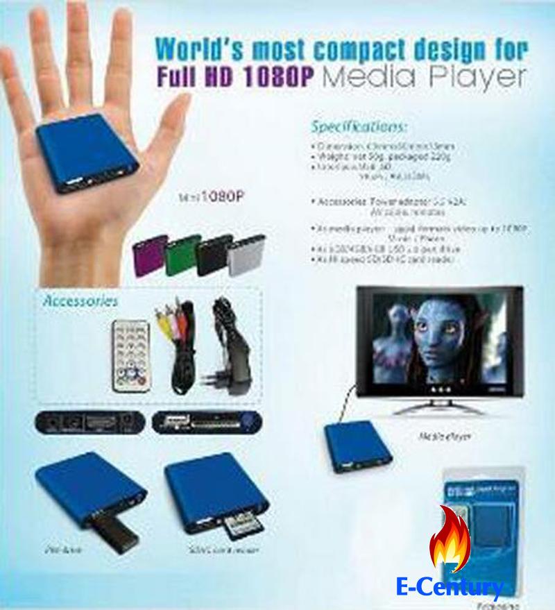 MANYTEL Mini Media Player Mini 1080p Hdmi Sd/Usb Hd Media Player Hd Mkv(China (Mainland))