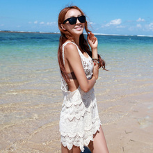 Hot Free & Drop shipping #Women's Lace Crochet Cover Up Swimwear Bikini Sleeveless Beach Long Dress Tops