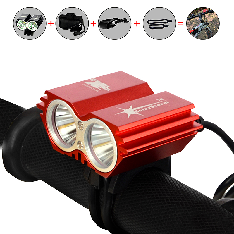 SolarStorm X2 Bike Light 5000 Lumen Cycling Head Light lamp Bicycle light Cree XML T6 LED bike Front Light 18650 Battery Pack(China (Mainland))