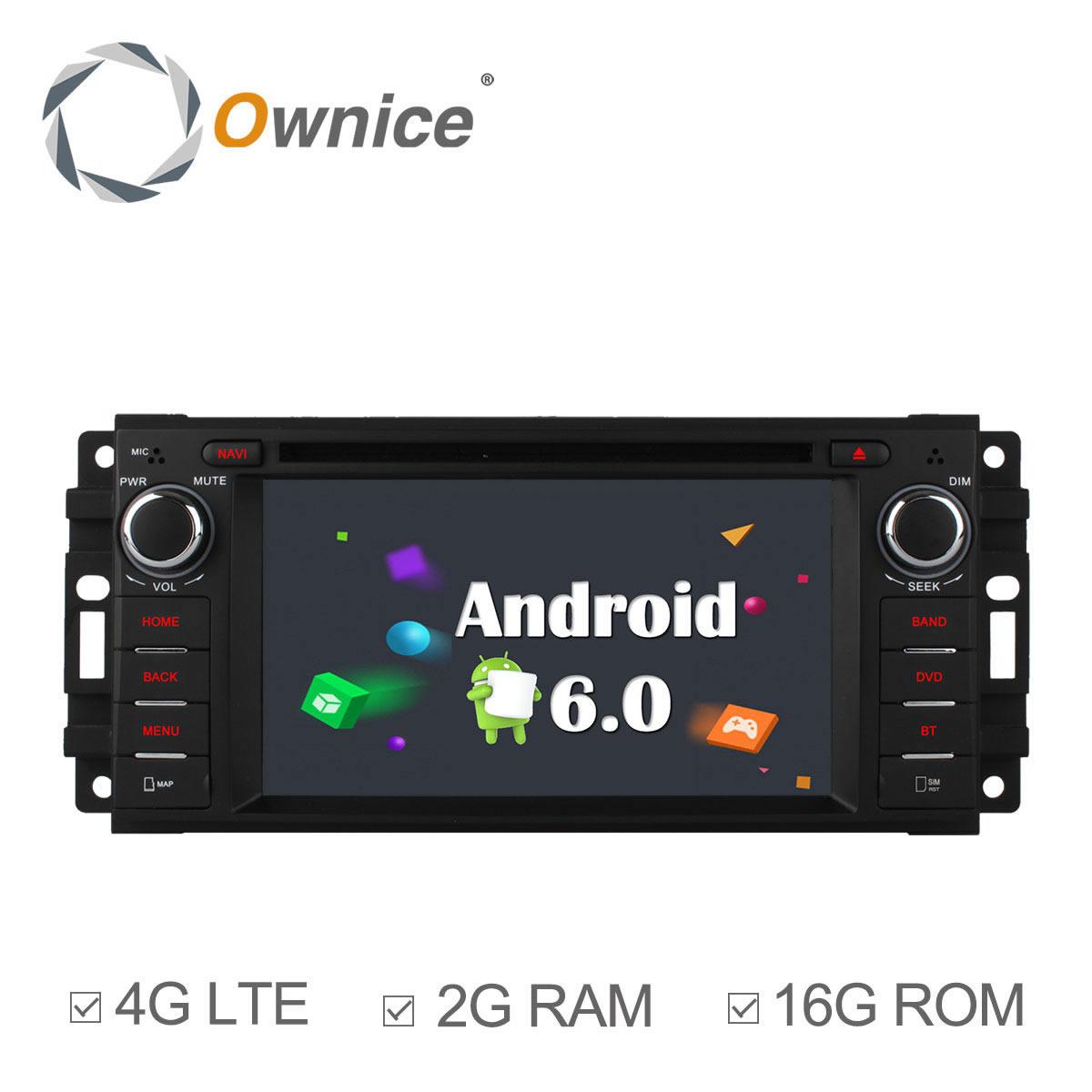 Ownice 2G RAM Android 6.0 Quad Core Car Radio DVD Player GPS for CHRYSLER 300C PT CRUISER DODGE RAM JEEP GRAND CHEROKEE BT Radio(China (Mainland))