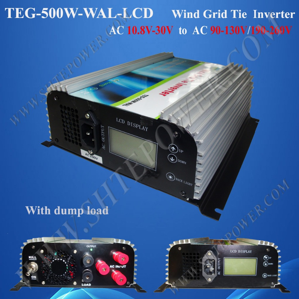 3 Phase Grid Connected Wind Turbine Power Inverter With LCD Display 500W AC 24V to AC 220V(China (Mainland))