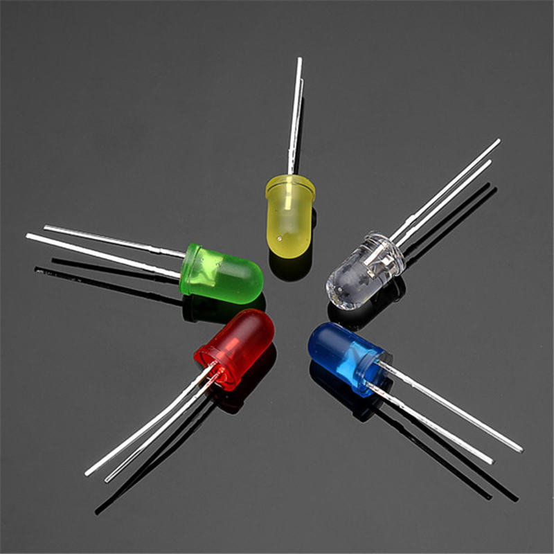 Best Promotion Electronic Circuit 100Pcs 20Ma F5 5MM 5Colors Ultra Bright LED Diode(China (Mainland))