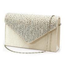 Женские атласные клатчи, вечерние сумочки, украшенные кристаллами, сумочки для свадебной вечеринки, сумочки-конверты, модные женские сумоч...(China)