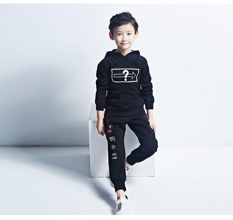 Скидки на Pioneer Дети 2016 Новый 4-16Y Бархат Детская Одежда Дети Одежда Мальчики Устанавливает Малыш Мальчик Одежда Наряды мальчик Комплект одежды