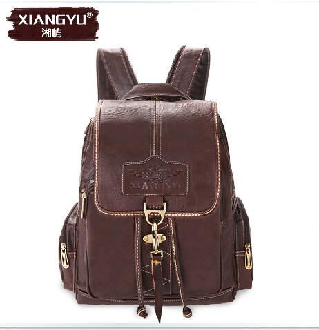 2014 Women Xiangyu brand college students retro shoulder bag Casual quality PU Big backpack Free ship(China (Mainland))