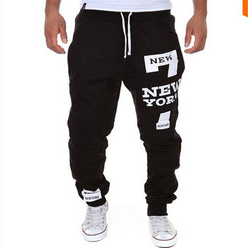 2016 new men's casual letters flag printed lace pants jogger male personality outdoor fashion sports - Explosive menswear store