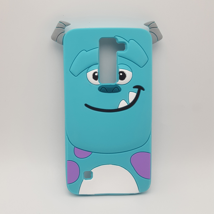 3D Cartoon Animal Monsters Sulley Alice Soft Silicone Case For LG K8 Rubber Skin Capa Back Cover shell phone cases(China (Mainland))