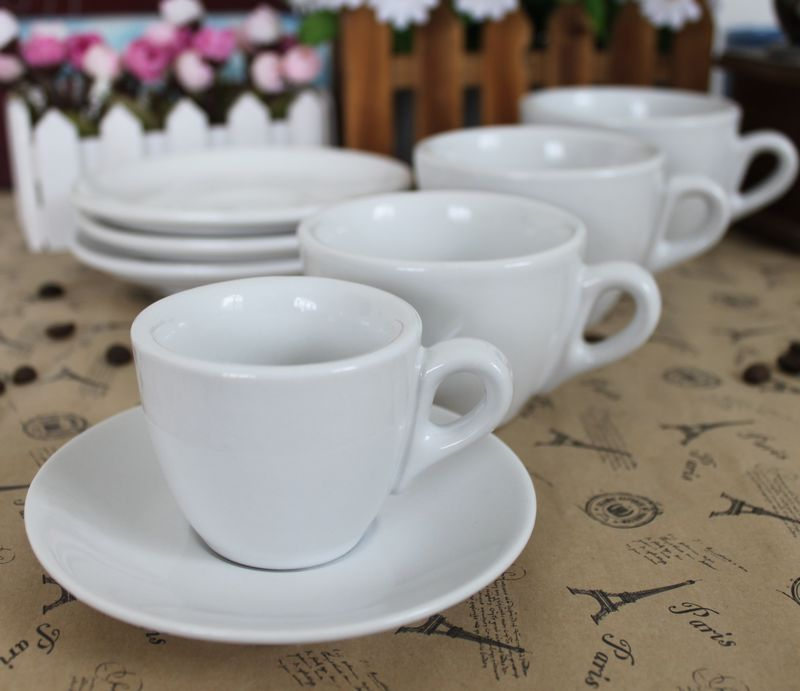 70ml 170ml 220 ml 280ml Ceramic coffee cup set cappuccino cup espresso cup latte cup and