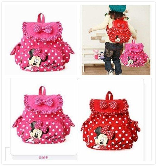 HOT HOT!!!! 6pcs Girls Backpack Soft Bag School Bag Free Shipping Red & Pink Color