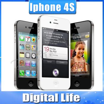 Iphone4s 100% завода разблокирована оригинального Apple iPhone 4S IOS 8 GPS WIFI 16 ГБ / 32 ГБ хранения 3.5 экран двухъядерный мобильный телефон