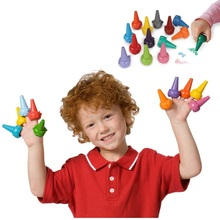 NEW HOT baby finger toys 6 chunky fun fram animal crayons kids drawing tools finger puppets 6color(China (Mainland))