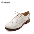 British Style Oxford Shoes for Women Vintage Women Soft Leather Tassels Platform Oxfords Shoes Woman HL8
