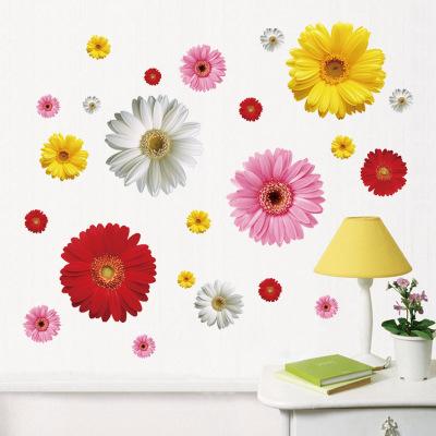 Стикер стены 3d дэйзи цветок с для украшения дома съемный пвх красивые цветочные отличительные знаки для диван фон декора 6015