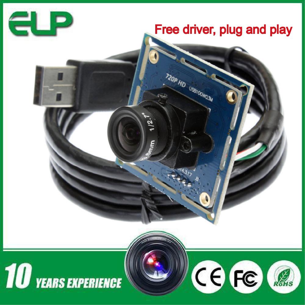 Гаджет  720POEM micro mini usb 2.0 pc webcam camera module with 6mm lens ELP-USB100W03M-L60 None Безопасность и защита