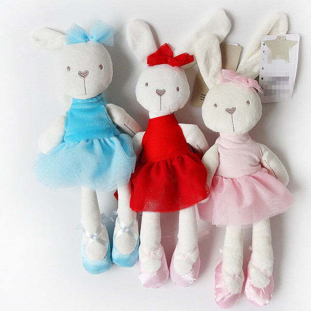 5 цвет 42 см милые дети Плюшевые Игрушки Кролика Мягкие Мягкие Куклы Мультфильм ТВ & Кино Игрушки Развивающие Для девушки