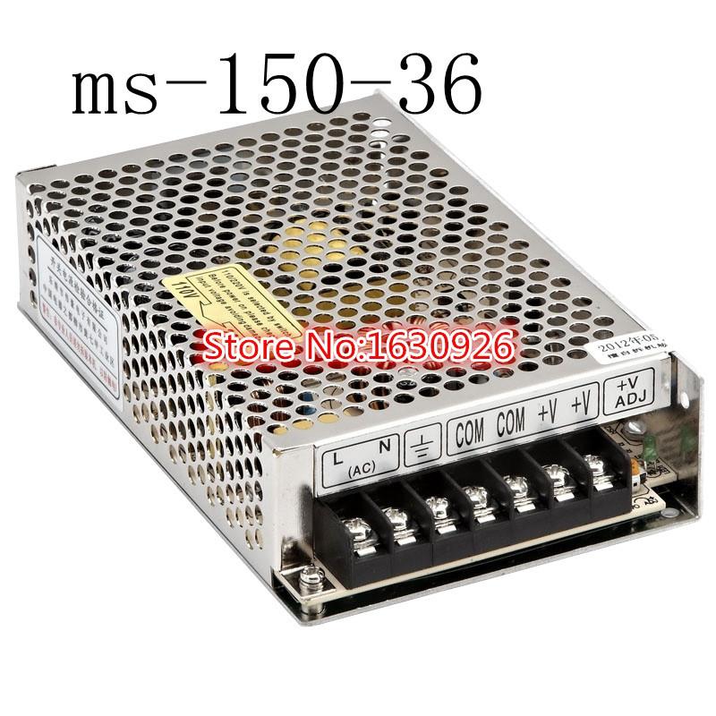 NEW! power supply 36v 150w 36v 4.2A power suply 150w 36v mini size led power supply unit ac dc converter ms-150-36(China (Mainland))