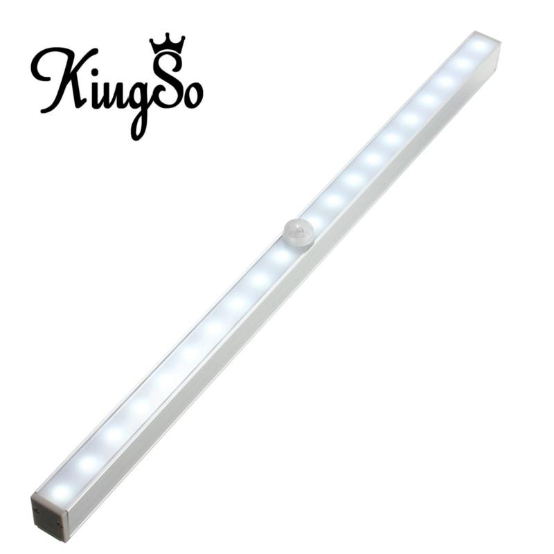Newest Kingso 20 LED Wireless PIR Motion Sensor Battery Power Cabinet Drawer Light Closet Cabinet Lamp Night Light LED Light(China (Mainland))