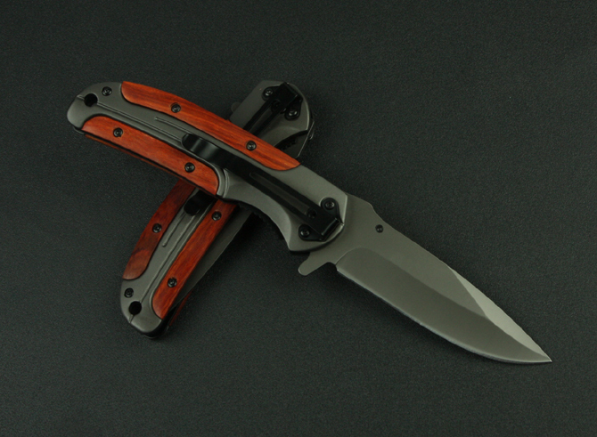 Browning DA43 Folding Knife utility combat Knife With Titanium Steel Rosewood Handle Tactical Hunting Survival Knife