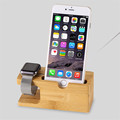 100 Natural Bamboo Charging Dock Station Bracket Cradle Stand Phone Holder For APPLE iPhone 6S PLUS