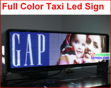 led taxi full color display screen,960mm * 320mm,wide view angle,5mm smd high clear taxi sign, 5m-100m,high clear,192*64 pixel(China (Mainland))
