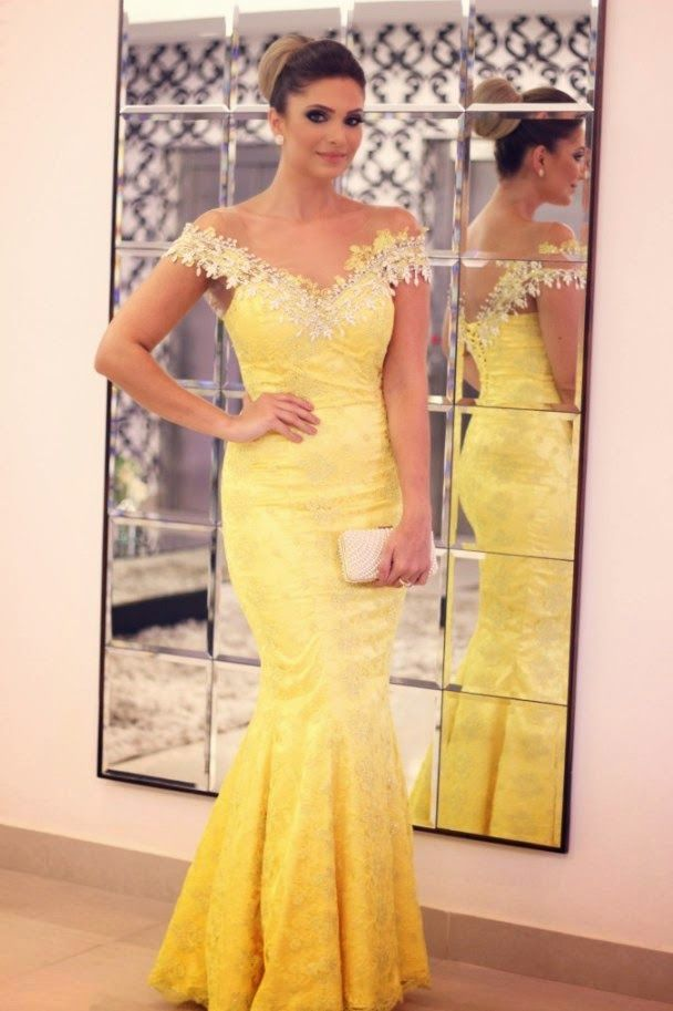 Long dress s yellow