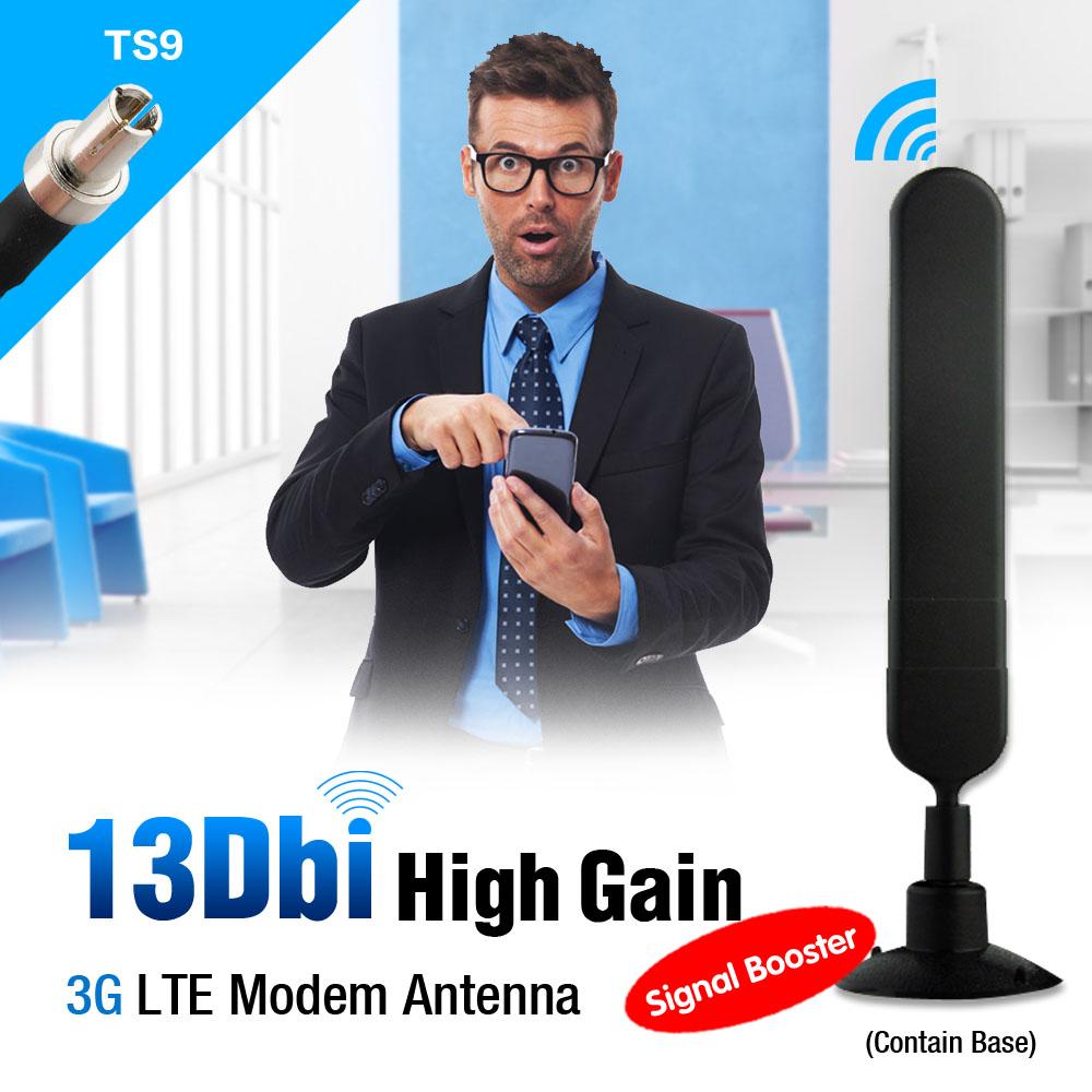 3G 12dbi Base Antenna TS9 Male For ZTE USB Modem MF645 MF668+ MF60 EL3099(China (Mainland))