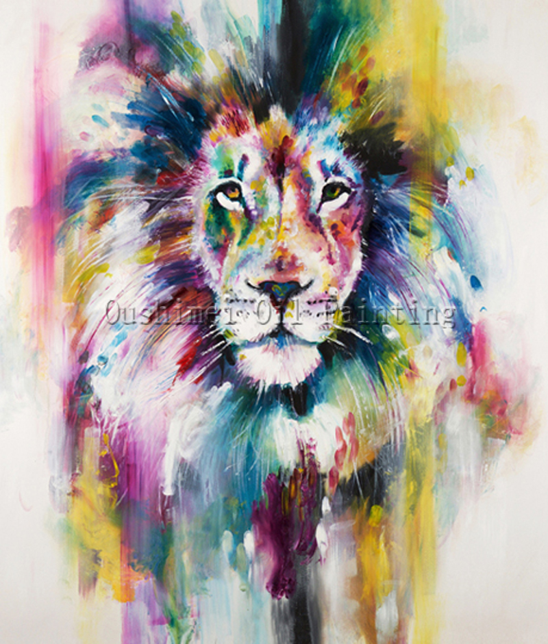 w wholesale african lion painting