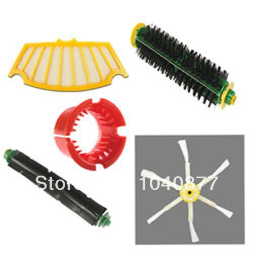 Filter, Side Brush, Beater Brush, Bristle Brush Cleaning Tool For iRobot Roomba 560 Vacuum Cleaner Accessory 500 Series Kit(China (Mainland))