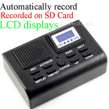 Mini Telephone Digital Voice Recorder Telephone  Logger / Telephone Voice Monitor Blue LCD display With Clock function