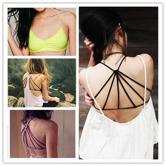 summer style active hollow out camisoles European style sexy staggered back bottom small vest with a chest pad sports<br><br>Aliexpress