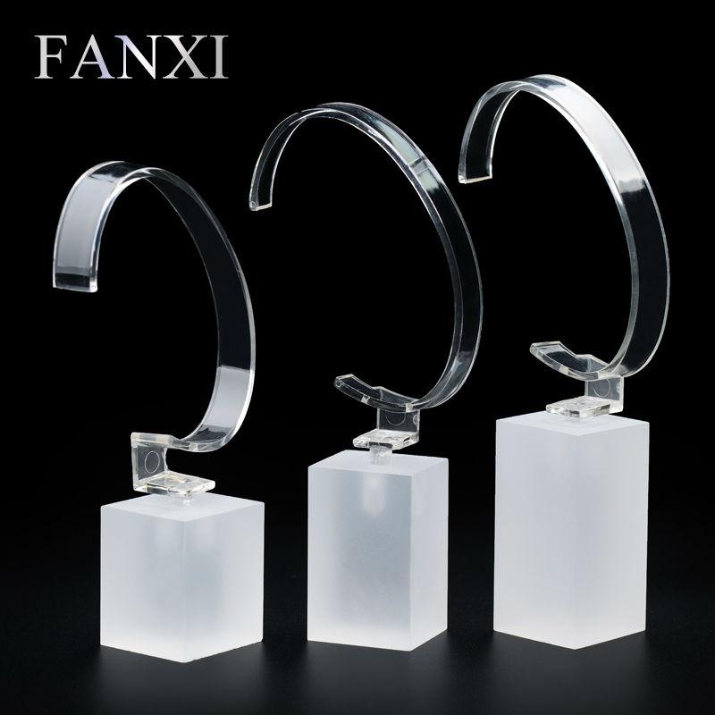 FANXI Free shipping Custom Matte acrylic bracelet display stand for jewellery shop show matte acrylic watch exhibitor organizer(China (Mainland))