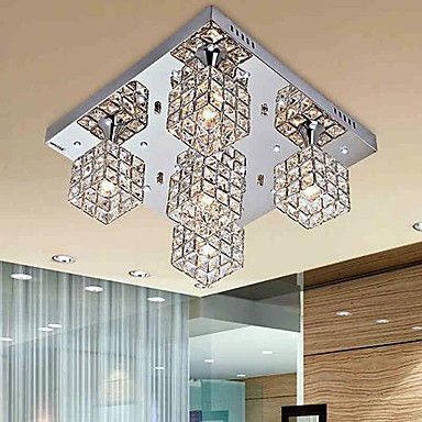 Simple Modern Artistic LED Crystal Ceiling Light Lamp With 5 Lights For Living Room Home Lighting Lustres Free Shipping
