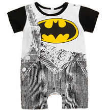 Cute Summer Newborn Clothes Baby Suit Boys Superman Batman Romper Cotton Jumpsuit