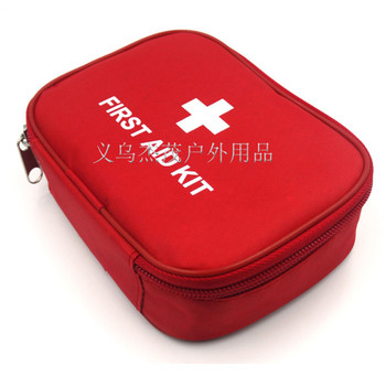 Outdoor Travel First Aid kit Mini Car First Aid kit bag Home Small Medical box Emergency Survival kit Size 15*11*4 CM