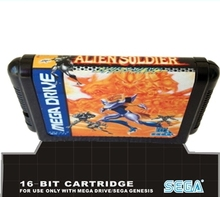 Sega games card – Alien Soldier For 16 bit Sega MegaDrive Genesis Sega Game console