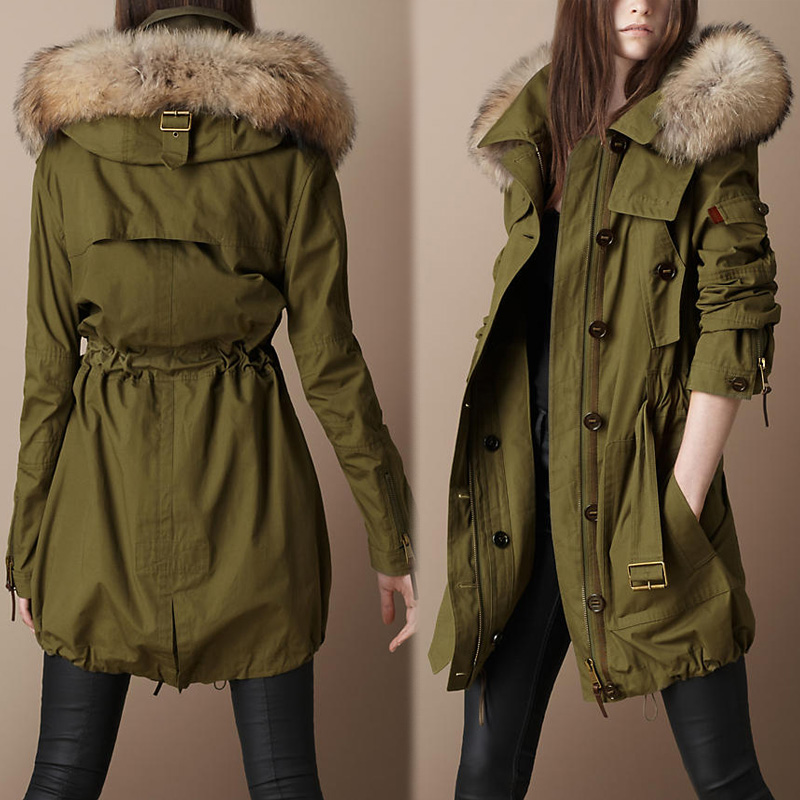 Olive Parka Jacket Womens | Fit Jacket