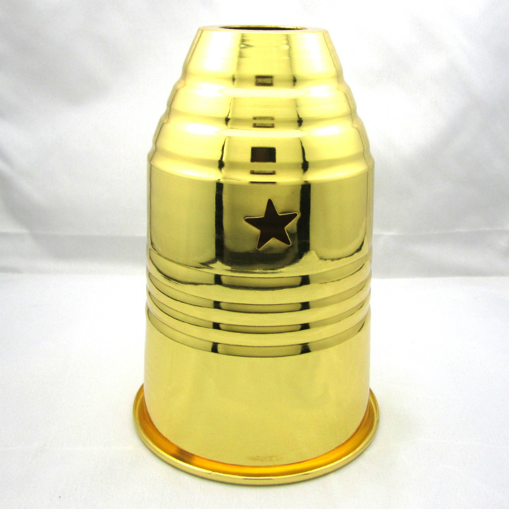 10 The wind cap Arab hookah windshield hookah general large bar of gold and silver pyramid aluminum does not rust Free Shipping(China (Mainland))