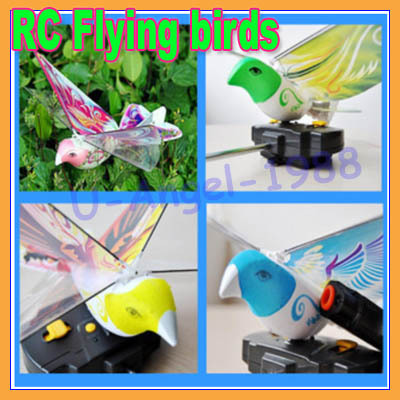 New gift Idea RC Flying birds toy bionic remote birds toy novelty toy RC airplane+free shipping(China (Mainland))