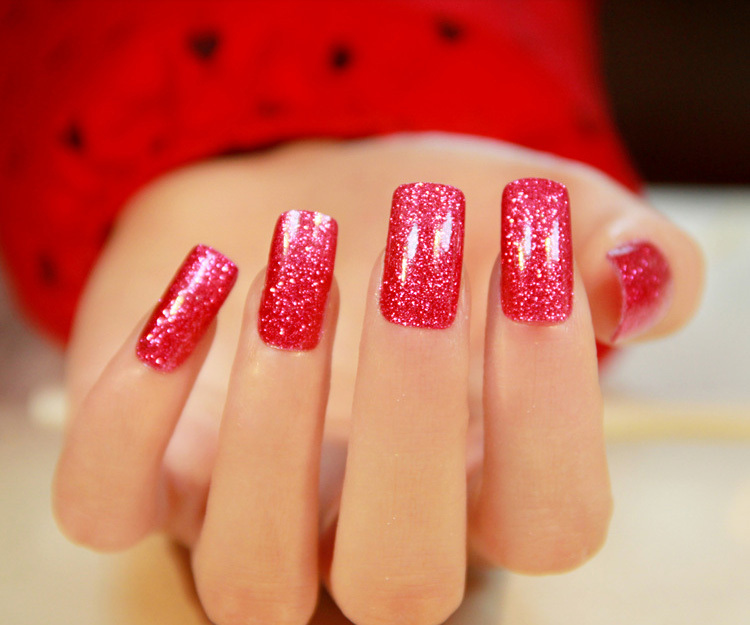$2 High quality Pure color shimmering powder minx nail sticker art for women Gift Full $5 Free Shipping(China (Mainland))