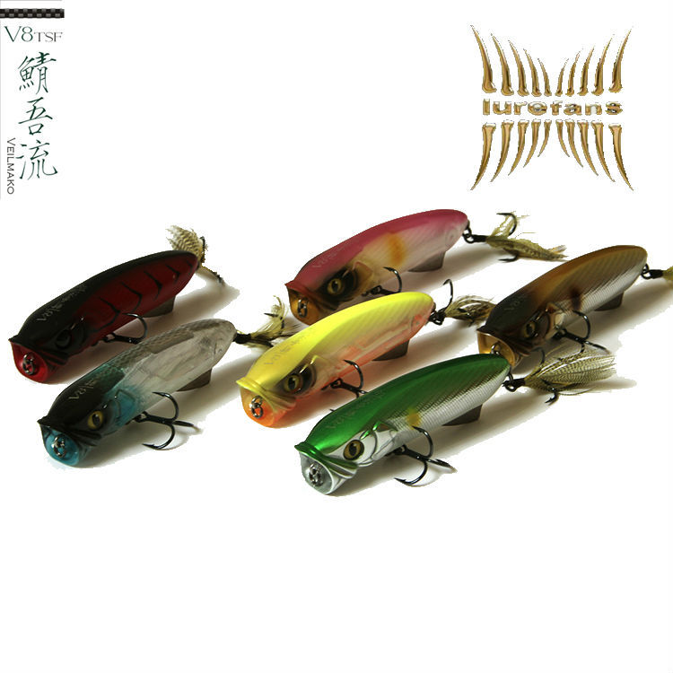 High Quality floating poppers fishing lure,8CM/12g topwater hard isca artificial lures, iscas pesca swimbait popper for bass(China (Mainland))