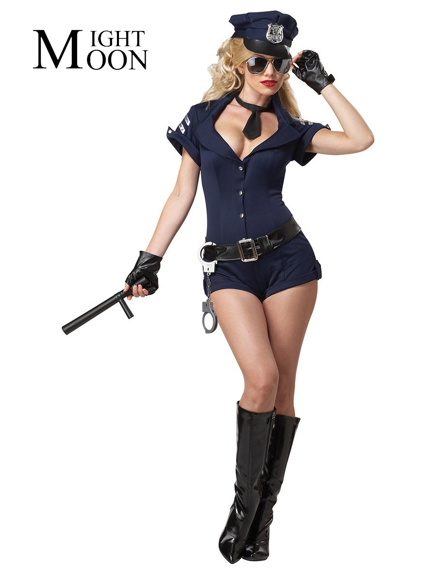 high quality cops career promotion shop for high quality moonight blue adult women police jumpsuits uniform cosplay policew outfit halloween costumes sexy cop costume
