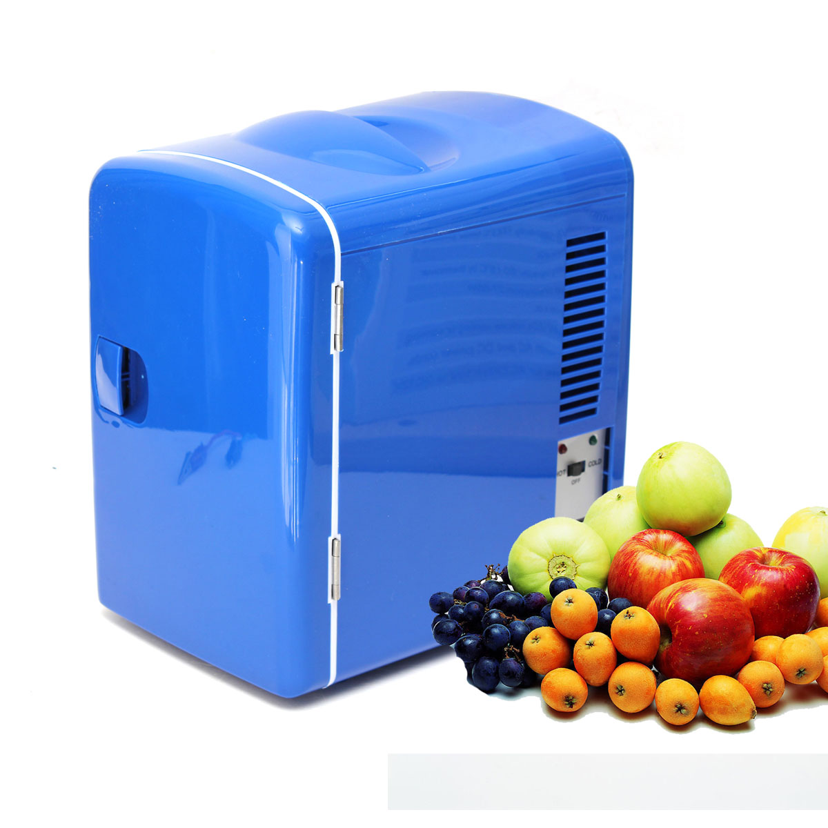 New 12V 4L Blue Car Auto Van Boat Mini Beer/Drink/Travel/Home Wine Cooler Warmer Refrigerator CAMPING Fridge Low-noise(China (Mainland))