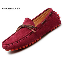 Guciheaven 2016 Luxury Brand Designer Men's Casual Lace Up Flats Shoes High Quality Pig Leather Driving Moccasin-gommino Loafers(China (Mainland))