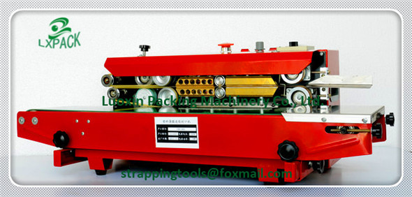 LX-PACK Automatic Continuous inflation Nitrogen film sealing machine,coder plastic bag package machine Expanded food band sealer(China (Mainland))